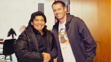 Carra jumped queue to meet Maradona in 2008