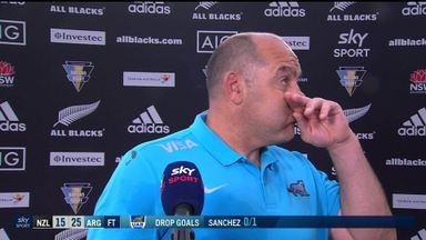 Argentina coach emotional after All Blacks win
