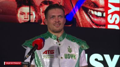 Usyk rates performance three out of 10!