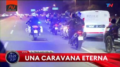 Maradona motorcade through Buenos Aires
