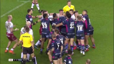 Brawl erupts in Wigan vs Hull FC semi-final!