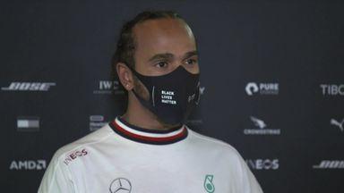 Hamilton not impressed with 2021 tyres