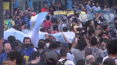 Fans gather in Buenos Aires
