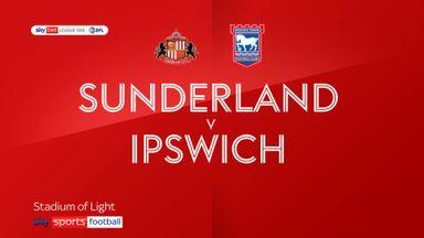 Sunderland 2-1 Ipswich