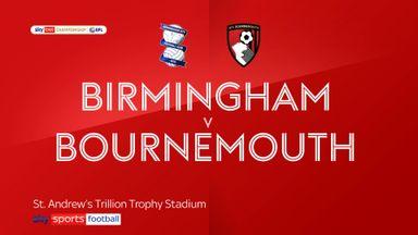 Birmingham 1-3 Bournemouth