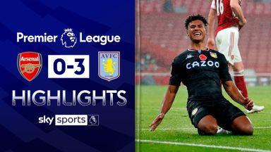 Villa thrash Arsenal at the Emirates