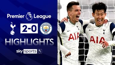 Spurs move top with victory over Man City