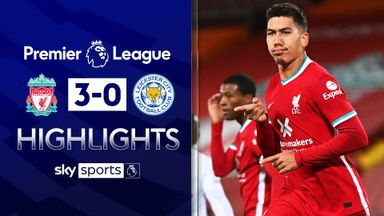 Liverpool hammer Leicester to go second