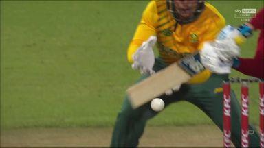Linde gets wicket on debut!