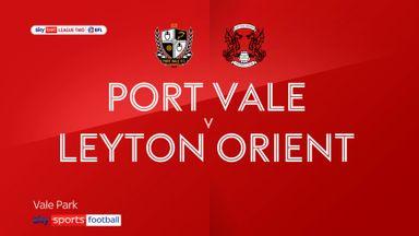 Port Vale 2-3 Leyton Orient