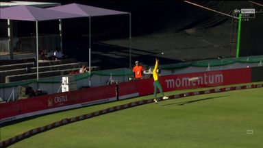 Malan out to remarkable catch on the boundary!