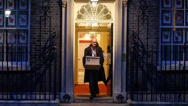 Dominic Cummings leaves Downing Street