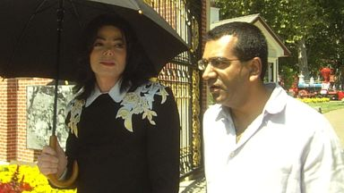 Michael Jackson and Martin Bashir. Pic: ITV/Shutterstock
