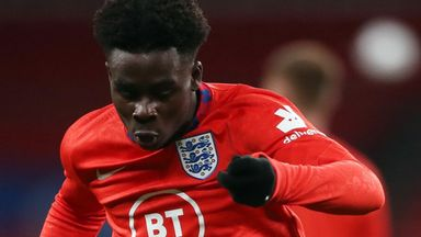 Saka: Kane helped me settle in England squad