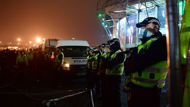 Celtic fans clash with police