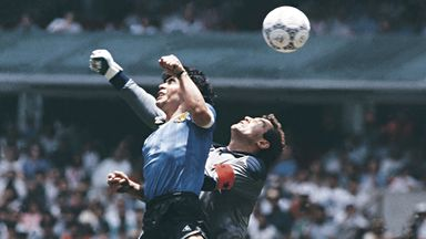 Maradona's 'Hand of God' goal