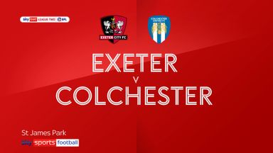 Exeter 6-1 Colchester