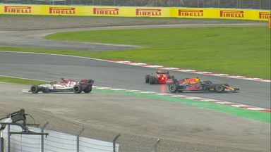 Verstappen spins again in the Red Bull