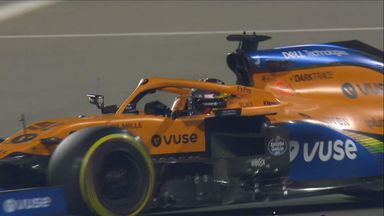 McLaren passes a Mercedes