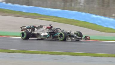 Hamilton passes Perez to lead