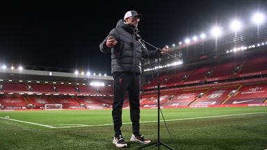 Klopp questions fan limits in larger stadiums