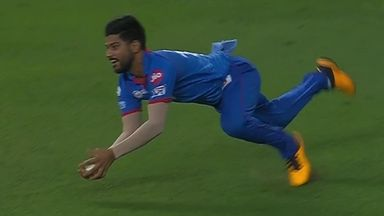 Rohit out to spectacular catch!
