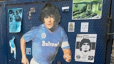 'The sky of Napoli is crying for Maradona'