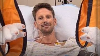 Grosjean's message from hospital bed