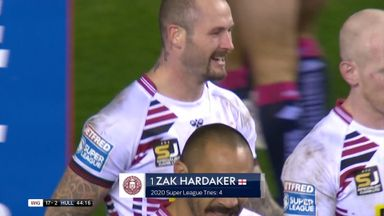 Wigan in control after Hardaker brilliance