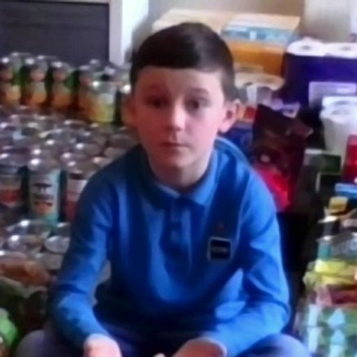Rashford hails 'hero' eight-year-old who collected food and presents for children