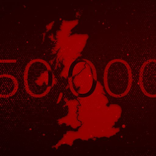 UK COVID deaths pass 50,000