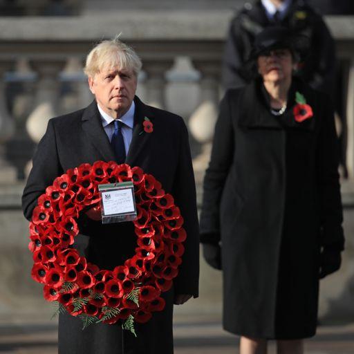 UK falls silent on Remembrance Sunday
