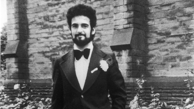Portrait of British serial killer Peter Sutcliffe, a.k.a. 'The Yorkshire Ripper,' on his wedding day, August 10, 1974. (Photo by Express Newspapers)