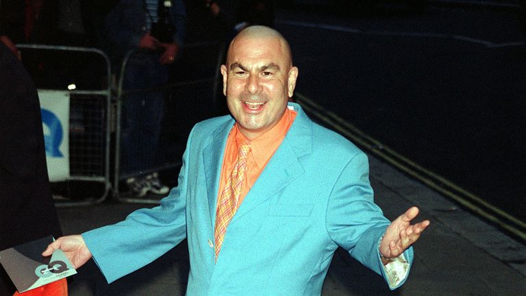 Football agent and TV personality Eric Hall arriving for the GQ Magazine Men of the Year Awards 2000, at The Royal Opera House in London.