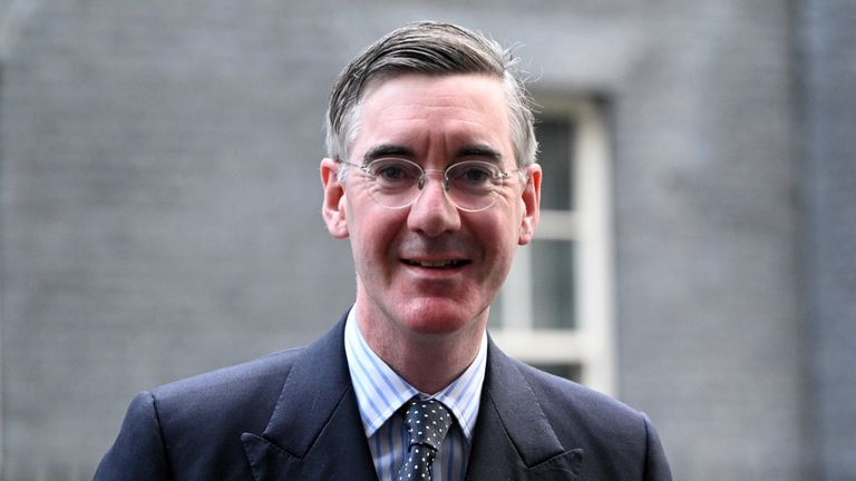LONDON, ENGLAND - NOVEMBER 10: Leader of the House of Commons, Jacob Rees-Mogg, arrives at Downing Street on November 10, 2020 in London, England. (Photo by Leon Neal/Getty Images)