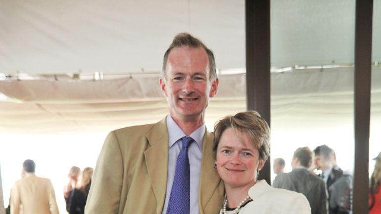CHICHESTER, UNITED KINGDOM - AUGUST 02: John Penrose MP and his wife rider Dido Harding CEO of Talk Talk attend Glorious Goodwood races at Goodwood on August 2, 2012 in Chichester, England. (Photo by Nick Harvey/WireImage)