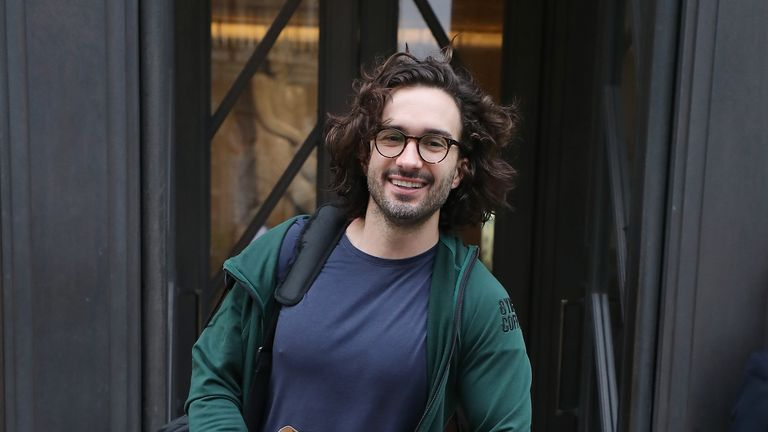 LONDON, ENGLAND - NOVEMBER 13:  Joe Wicks leaving BBC Broadcasting house after his 24 hour PE Challenge Workout for BBC Children In Need 2020 on November 13, 2020 in London, England. (Photo by Neil Mockford/GC Images)