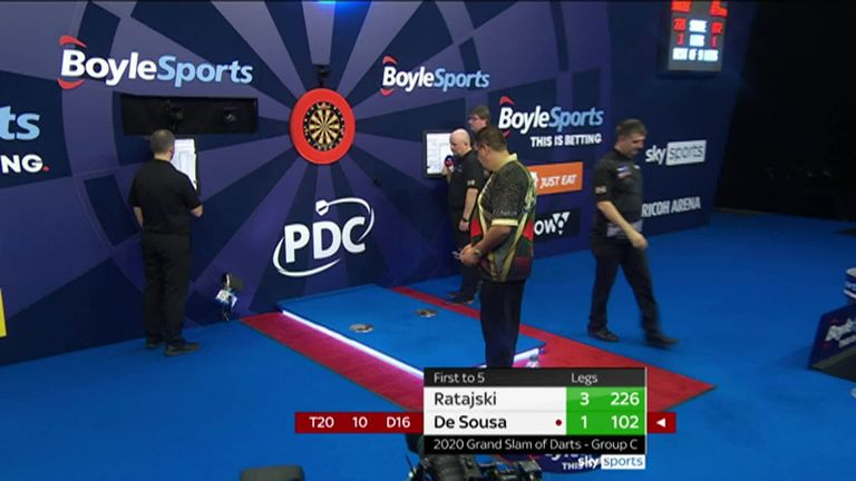 De Sousa impressive 101 finish was the highlight of a day one victory