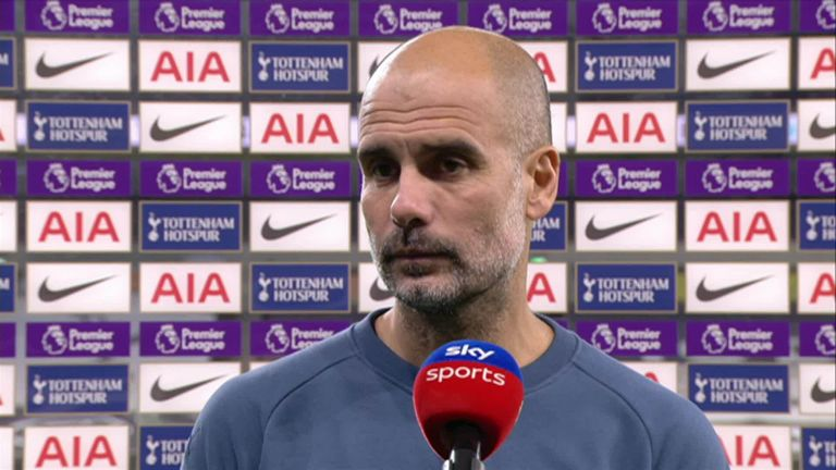 Manchester City head coach Pep Guardiola says his side are playing well despite struggling to score goals so far this season