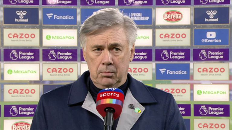 Everton's Carlo Ancelotti says whoever got the first goal was going to win with Leeds taking their chance.