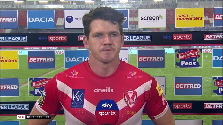 Man of the match Lachlan Coote felt it was a massive effort from St Helens to secure a 48-2 victory over Catalans Dragons