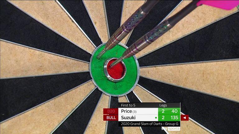 Check out Mikuru Suzuki's sensational 135 finish against Gerwyn Price at the Grand Slam