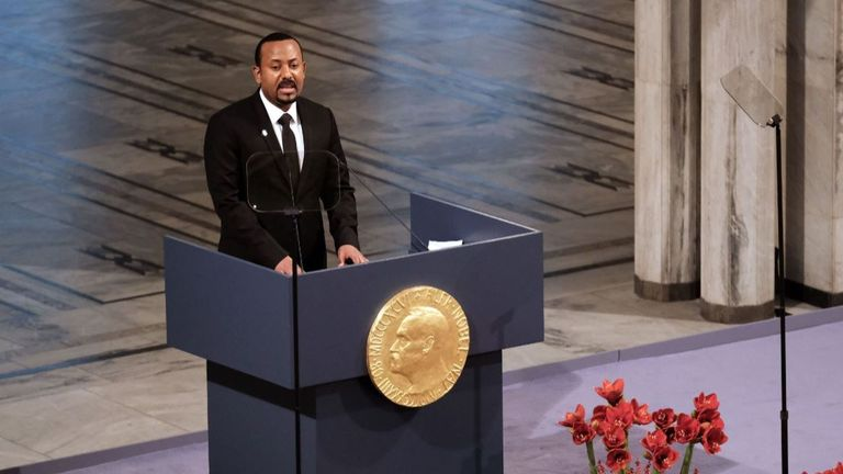 Ethiopia's PM Abiy Ahmed Ali was awarded a Nobel Peace Prize last year for his efforts to achieve peace and international co-operation