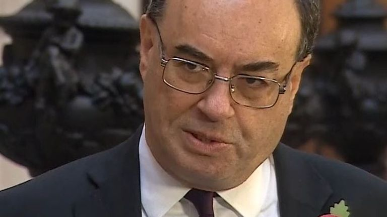 Andrew Bailey is working with the chancellor to support the British people through the pandemic