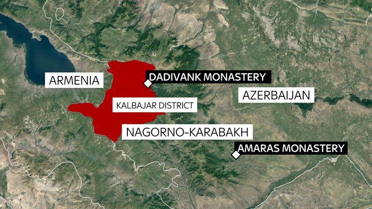 The Dadivank monastery will pass into Azerbaijani hands on Wednesday