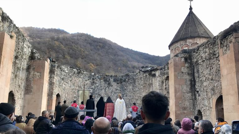 Dadivank monastery  will pass into Azerbaijani hands on Wednesday