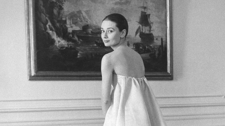 F57MB5 AUDREY HEPBURN  (1929-1993) British film actress at the Givenchy studio about 1957. Image shot 1957. Exact date unknown. Pic: Pictorial Press Ltd / Alamy Stock Photo