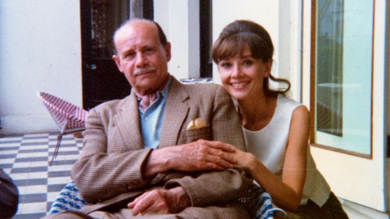 Reuniting with her father Joseph Ruston in Ireland, August 1964