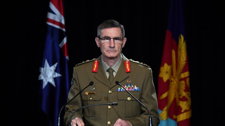 General Angus Campbell went through the report's finding to reporters