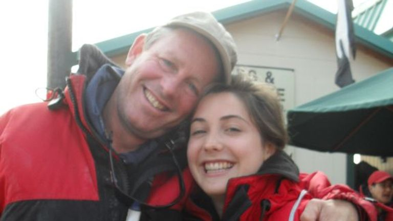 Averil Hart, 19, died in December 2012 after being found collapsed by a cleaner. Seen here with her father Nic. Pic: Family handout
